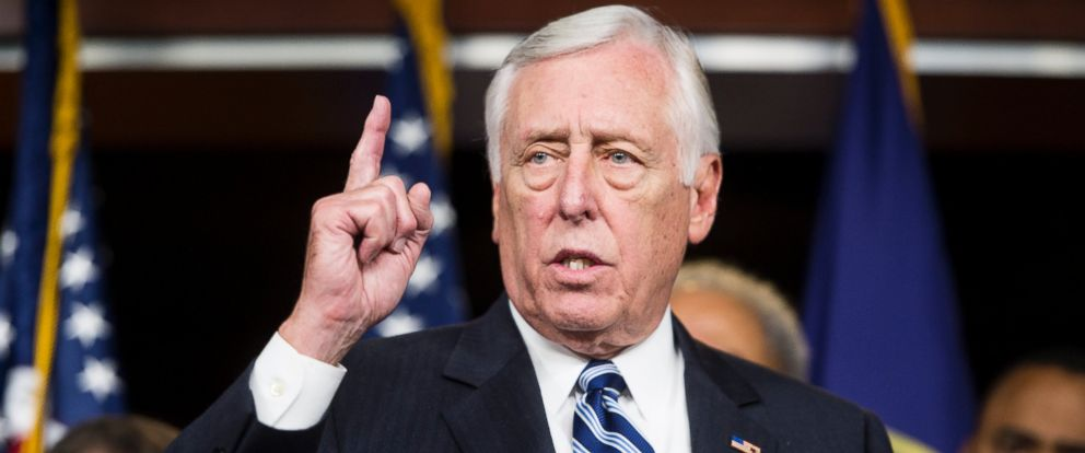 PHOTO: House Minority Whip Steny Hoyer, D-Md., speaks as House Democrats hold a news conference to call for presidential action on immigration, Nov. 13, 2014.