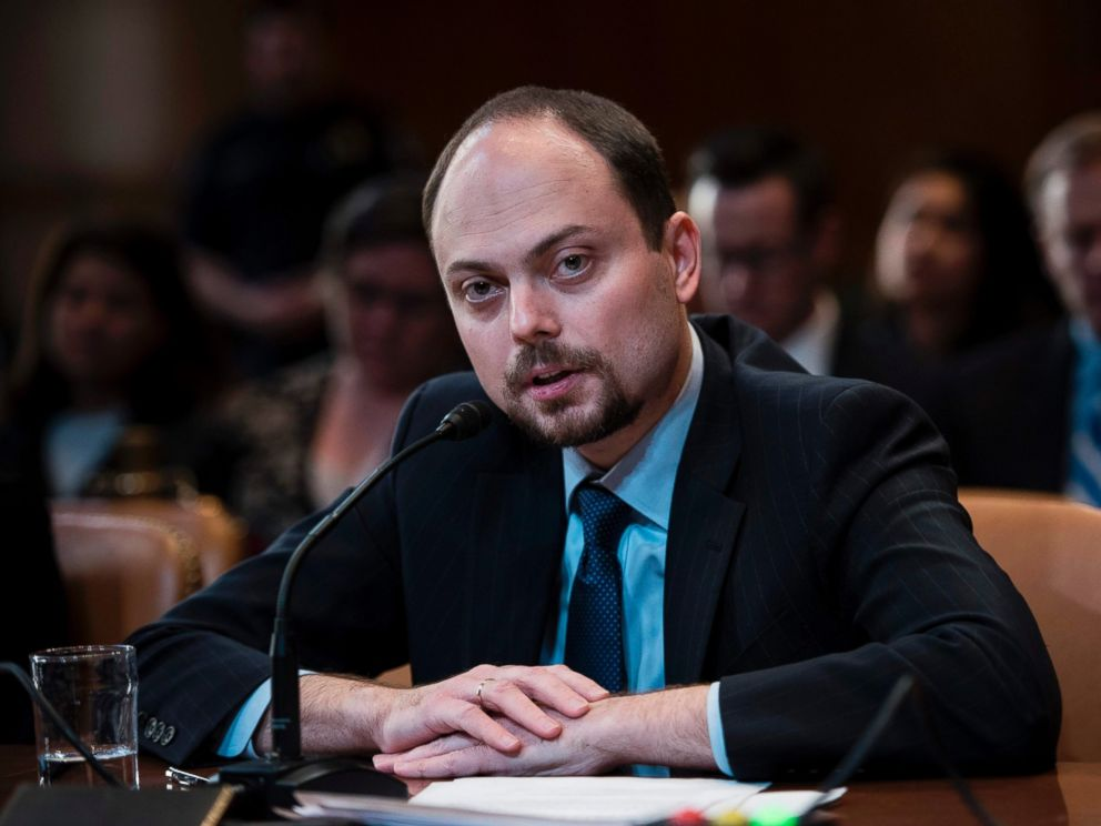 PHOTO: Russian opposition politician Vladimir Kara-Murza testifies on Capitol Hill in Washington, March 29, 2017, before the Senate Appropriation Committee hearing on Civil Society Perspectives on Russia.