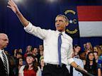 PHOTO: President Obama waves after speech