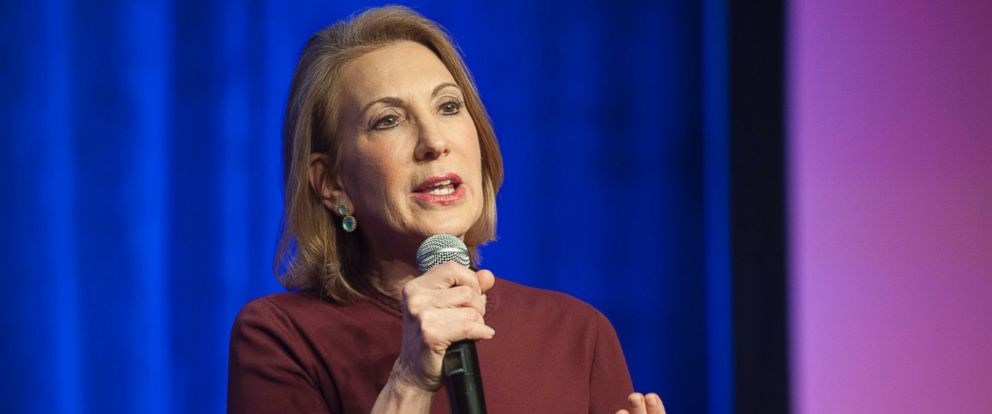 PHOTO: Republican presidential candidate Carly Fiorina speaks during the welcome reception at the Republican National Committee Spring meeting May 13, 2015 at The Phoenician in Scottsdale, Arizona.