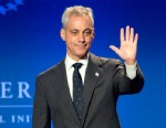 PHOTO: Rahm Emanuel, mayor of Chicago, waves as he arrives to speak during the Clinton Global Initiative CGI America meeting in Chicago, June 13, 2013.