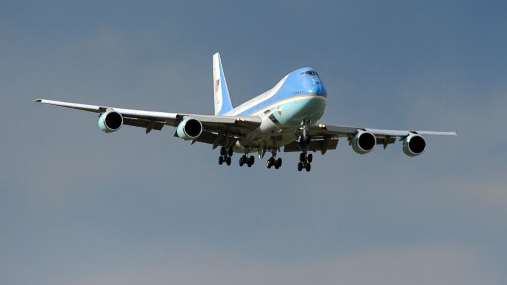 Air Force One made an approach from the north as it came in for a landing at Buckley Air Force Base, April 24, 2012.