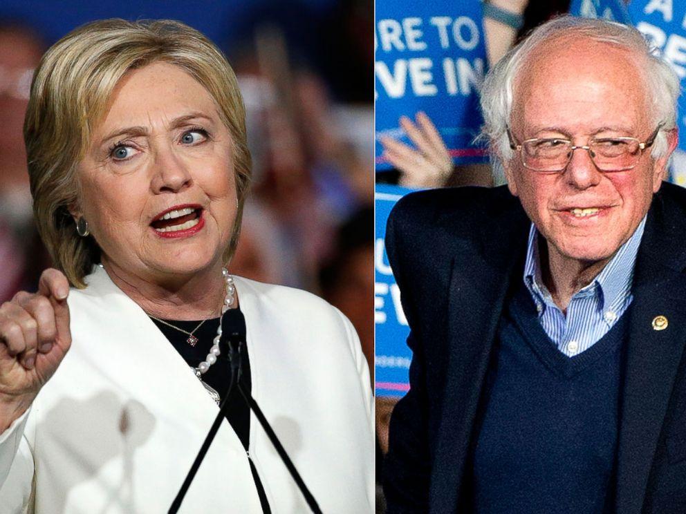 PHOTO: Hillary Clinton | Bernie Sanders