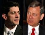 PHOTO: Paul Ryan and Chief Justice John Roberts