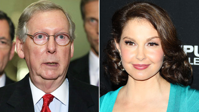 PHOTO: Senate Minority Leader Mitch McConnell will run an ad in Kentucky, 20 months before elections, targeting women voters and celebrity and possible Senate Candidate, Ashley Judd.