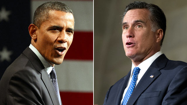 PHOTO: President Barack Obama, left, and Presidential hopeful Mitt Romney are shown in these file photos.