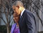 PHOTO: President Barack Obama and his daughter Sasha leave St. Johns Church on January 21, 2013 in Washington.