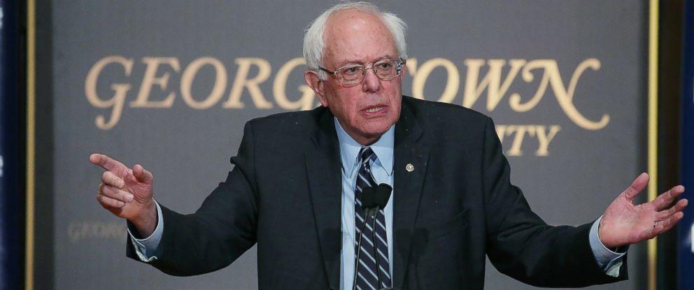 PHOTO:Democratic Presidential candidate Sen. Bernie Sanders (I-VT) speaks at Georgetown University, Nov.19, 2015 in Washington.