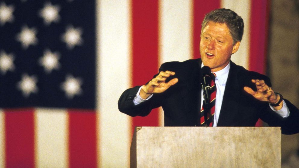 Bill Clinton  speaks on the final weekend of his campaign in Springfield, Ohio, Oct. 30, 1992.
