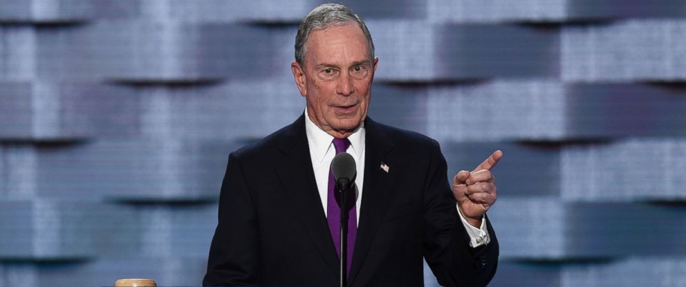 PHOTO: Former New York City mayor Michael Bloomberg speaks at the third evening session of the Democratic National Convention at the Wells Fargo Center in Philadelphia, July 27, 2016.