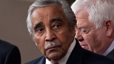 PHOTO: Charlie Rangel conducts a news conference in the Capitol Visitor Center to introduce an unemployment insurance extension bill called the Emergency Unemployment Compensation Extension Act of 2011.
