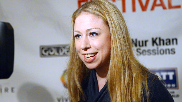 PHOTO: Chelsea Clinton is interviewed at the Global Citizen Festival in Central Park to end extreme poverty, Sept. 29, 2012 in New York City.