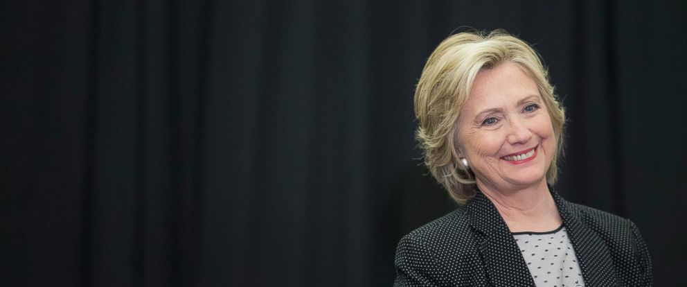 PHOTO: Democratic presidential candidate Hillary Clinton waits to be introduced at a campaign event at the University of Wisconsin-Milwaukee on Sept. 10, 2015 in Milwaukee.