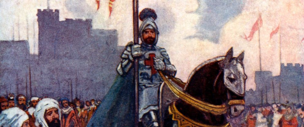 "PHOTO: An illustration from ""Our Island Story"" by H.E. Marshall, showing King Richard I, known as Richard the Lionheart."