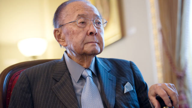 PHOTO: Sen. Daniel Inouye, is interviewed in his U.S. Capitol office, July 26, 2012.
