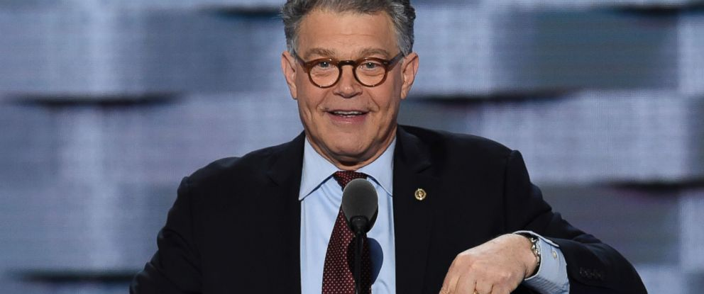 PHOTO: Sen. Al Franken speaks at the Democratic National Convention at the Wells Fargo Center in Philadelphia, July 25, 2016.