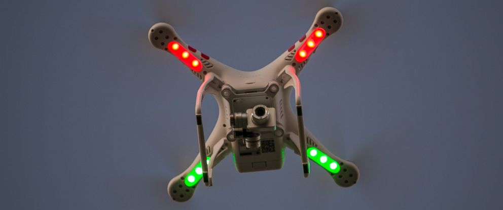PHOTO: A Phantom drone buzzes above Gaviota State Beach at sunset in Santa Barbara, Calif., on Nov. 26.