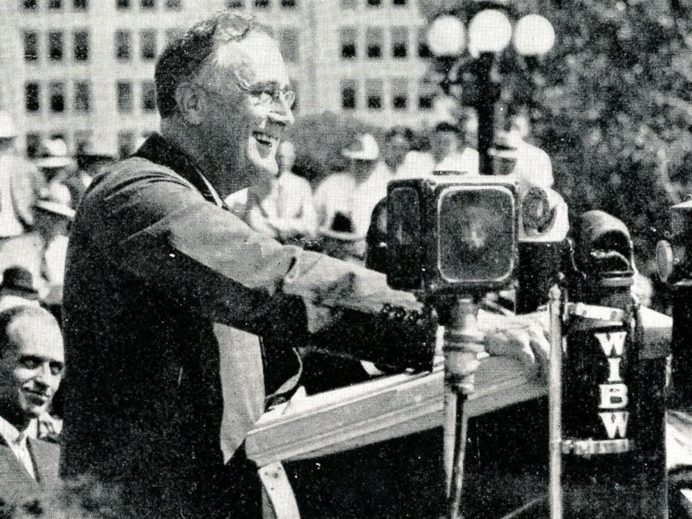 PHOTO: Franklin Delano Roosevelt in Topeka, Kansas on the 1932 campaign trail.