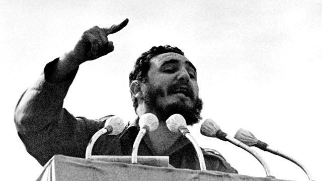 PHOTO: Fidel Castro during his speech for the 4th Anniversary of Revolution, Jan. 7, 1963, in Havana, Cuba.