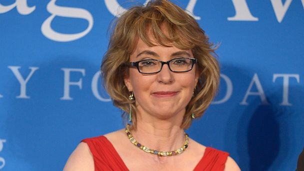 "PHOTO: Former Congresswoman Gabrielle ""Gabby"" Giffords receives the 2013 John F. Kennedy Profile In Courage Award at The John F. Kennedy Presidential Library And Museum on May 5, 2013 in Boston."