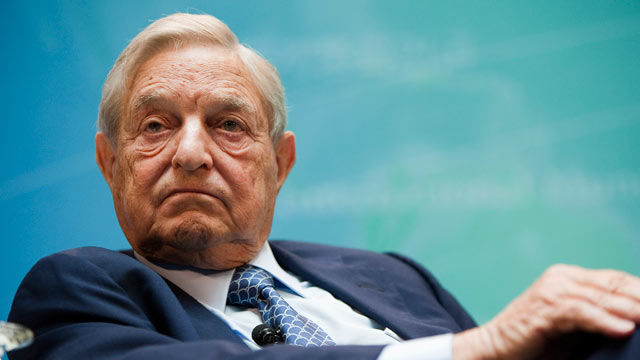 PHOTO: George Soros takes part in a panel discussion at the IMF and World Bank annual fall meeting in Washington, D.C., Sept. 24, 2011.