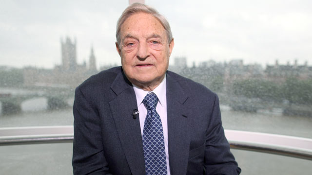PHOTO: George Soros, founder of Soros Fund Management LLC, pauses during an interview for Bloomberg via Getty Images Television's 'Eye to Eye' series June 22, 2011.