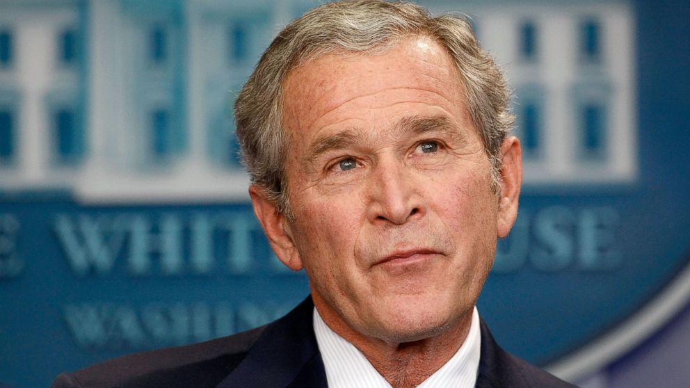 George W. Bush holds a news conference at the White House in Washington, Jan. 12, 2009.
