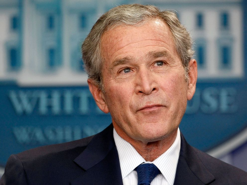 PHOTO: George W. Bush holds a news conference at the White House in Washington, Jan. 12, 2009.