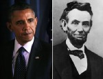 PHOTO: Barack Obama and Abraham Lincoln