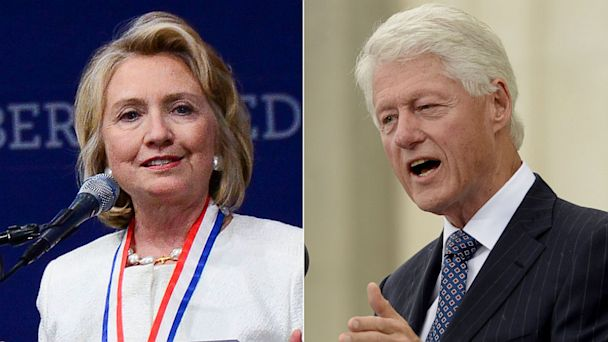 PHOTO: Former Sec. of State Hillary Clinton and former President Bill Clinton