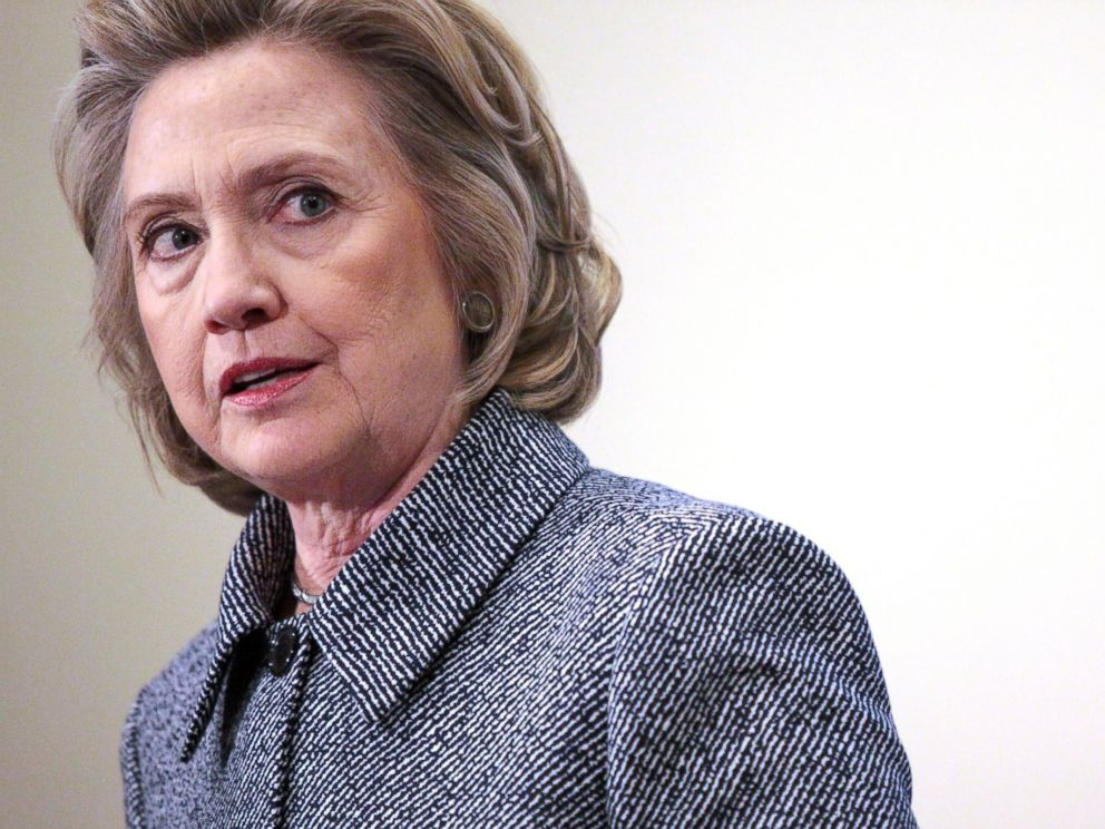 PHOTO: Former United States Secretary of State Hillary Clinton speaks to the media about allegations of an improperly used email account during her tenure as Secretary of State on March 10, 2015 at the United Nations in New York.
