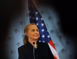 PHOTO: US Secretary of State Hillary Clinton speaks during a press conference after a meeting with Czech Foreign Minister on Dec. 3, 2012 in Prague.