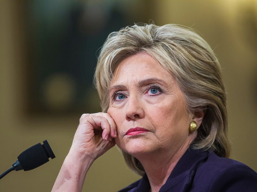PHOTO: Former Secretary of State and Democratic presidential candidate Hillary Clinton testifies before the House Select Committee on Benghazi, on Capitol Hill in Washington D.C., Oct. 22, 2015.