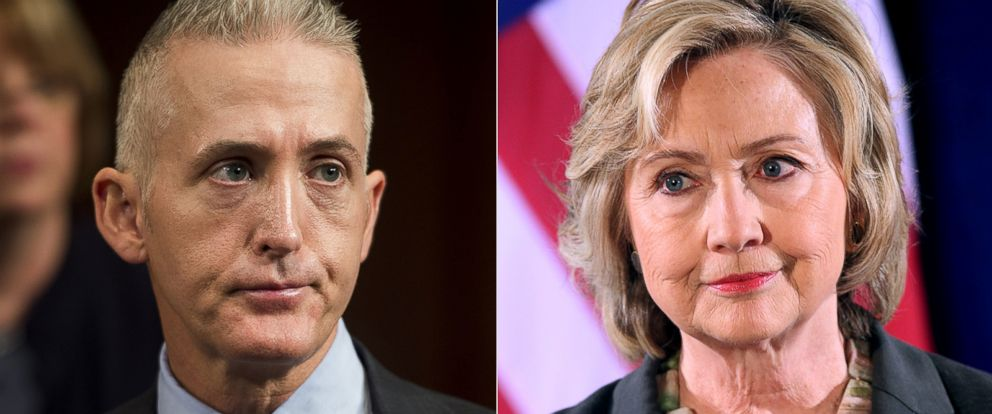 PHOTO: Pictured from left, Trey Gowdy and Hillary Clinton.