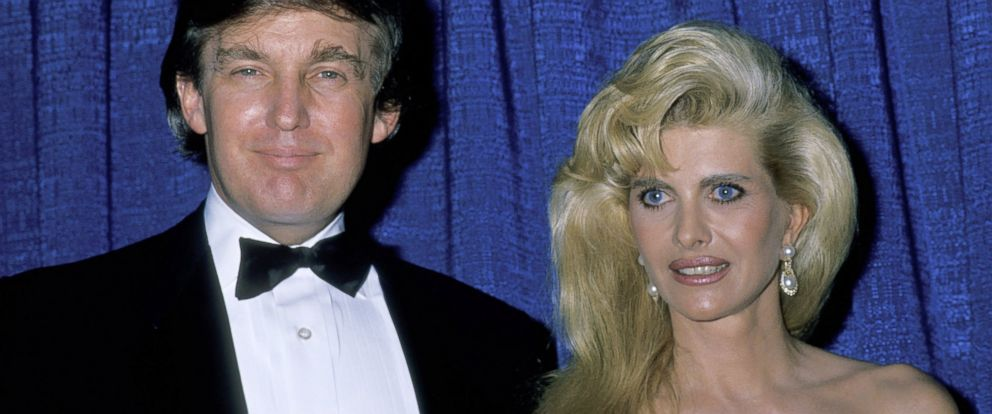 PHOTO: Donald Trump and Ivana Trump are seen in this file photo, January 14, 1990, during 20th Annual Scopus Awards Honoring Merv Griffin at Beverly Hilton Hotel in Beverly Hills, Calif.