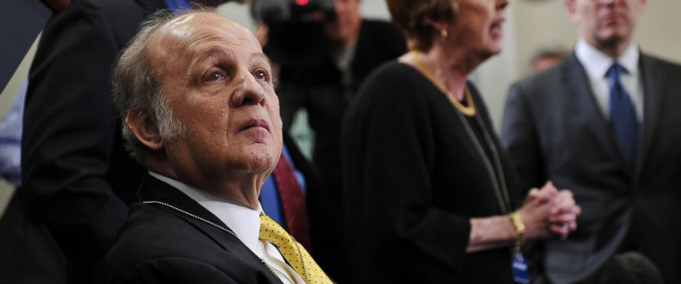 PHOTO: Former White House press secretary James Brady visits the Brady Briefing Room at the White House, March 30, 2011 in Washington.