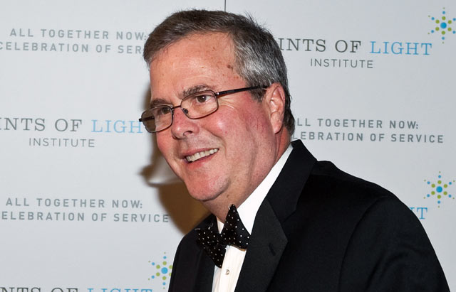 PHOTO: Jeb Bush arrives at the Points of Light Institute Tribute to Former President George H.W. Bush at The John F. Kennedy Center for Performing Arts.
