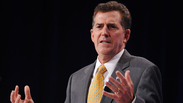 PHOTO: Senator Jim DeMint, R-SC, speaks during The Family Research Council (FRC) Action Values Voter Summit, Sept. 14, 2012, in Washington.