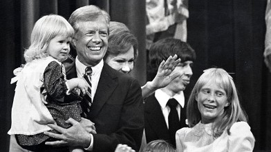 PHOTO: Jimmy Carter and family during 1980 Democratic National Convention in New York City at Madison Square Garden in New York.
