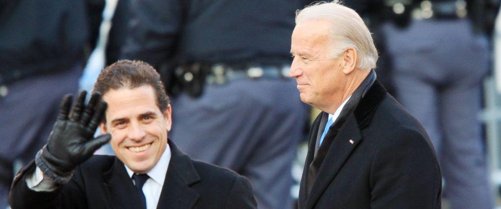 PHOTO: Vice President Joe Biden and his son Hunter Biden walk in the Inaugural Parade Jan. 20, 2009, in Washington.