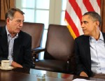 PHOTO: President Barack Obama speaks with Speaker of the House John Boehner during a meeting at the White House in Wash., DC, in this July 23, 2011 file photo.