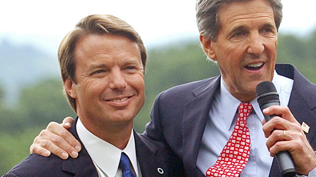 PHOTO: John Edwards and John Kerry