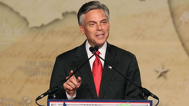 PHOTO: Jon Huntsman speaks at the Conservative Political Action Conference (CPAC), at the Orange County Convention Center, on September 23, 2011 in Orlando, Florida.