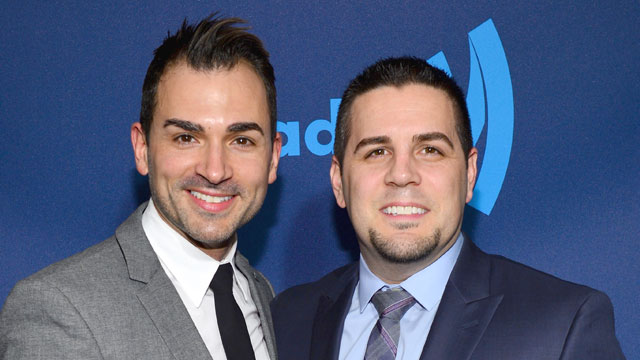 PHOTO: Paul Katami and Jeff Zarrillo attend the 24th Annual GLAAD Media Awards on March 16, 2013 in New York City.