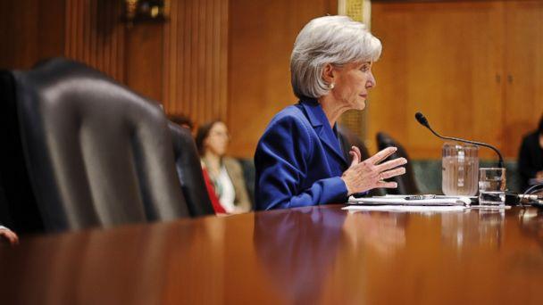 PHOTO: Health and Human Services Secretary Kathleen Sebelius testifies on Capitol Hill in Washington, Nov. 6, 2013.