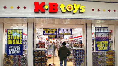 PHOTO: A shopper enters a closing KB Toys store Jan. 30, 2004 in Norridge, Illinois.