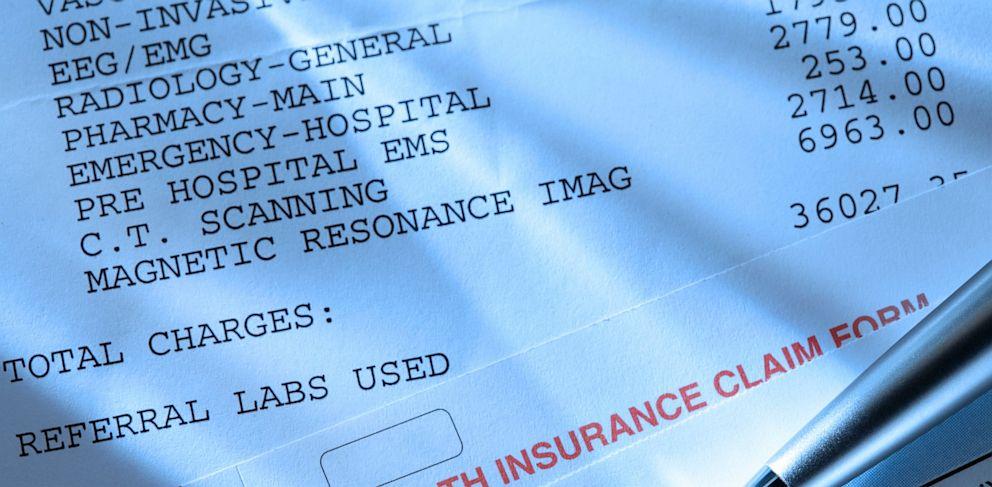 PHOTO: Medical expenses, insurance claim form