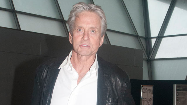PHOTO: Michael Douglas lands at John F. Kennedy Airport, February 23, 2013, in New York City.