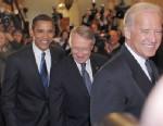 PHOTO: President Barack Obama walks with Senate Majority Leader Harry Reid of Nevada and Vice President elect Joe Biden, Jan. 5, 2009 at the Capitol in Washington.