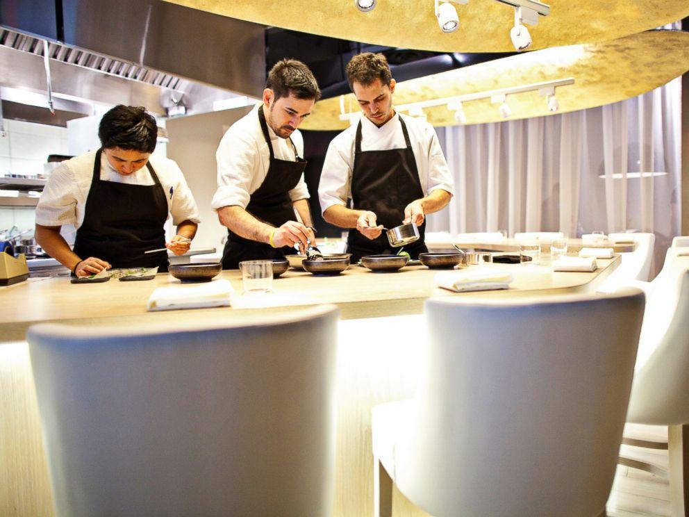 PHOTO: Employees prepare food at Jose Andres Minibar in Penn Quarter, Washington, DC. on Nov. 20, 2012.